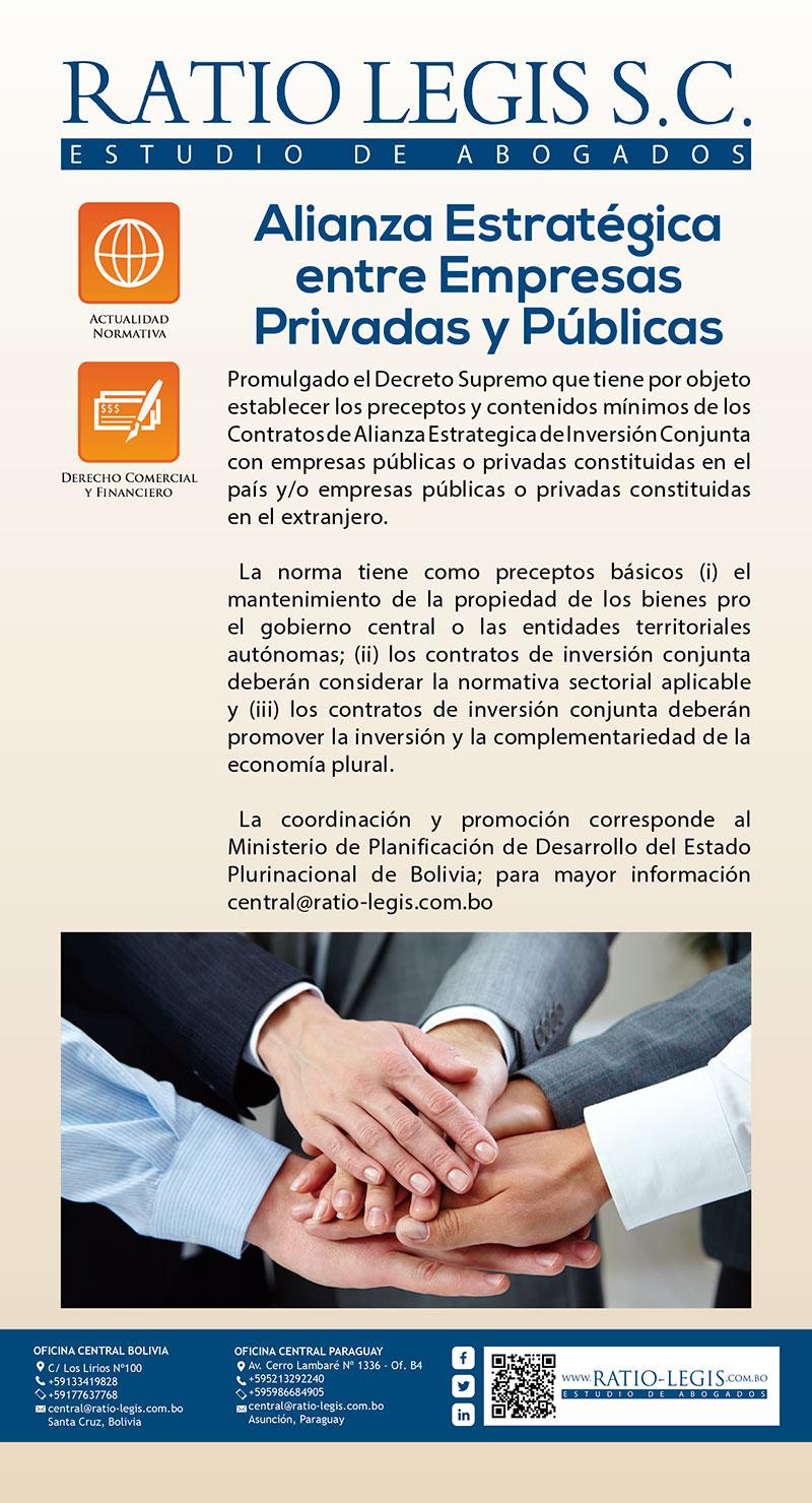 (Español) Alianza Estratégica entre Empresas Privadas y Públicas