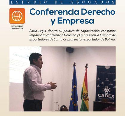 Conferencia Derecho y Empresa