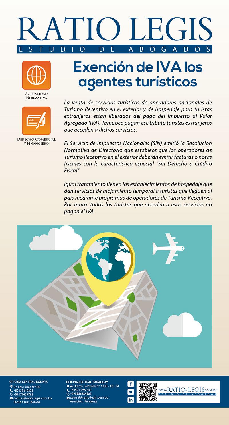 Exención de IVA los agentes turísticos