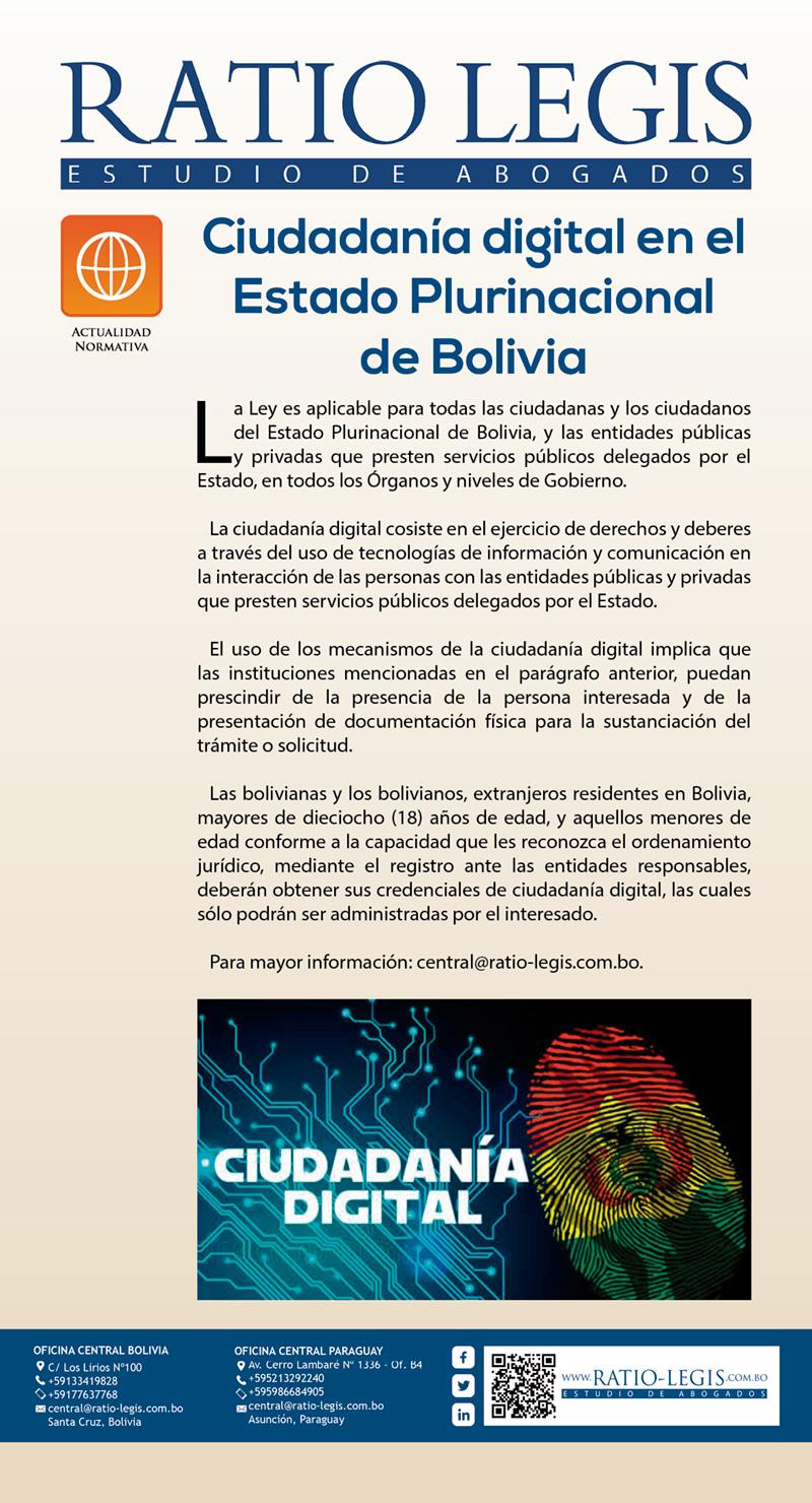 Ciudadanía digital en el Estado Plurinacional de Bolivia