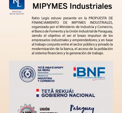 Financiamiento de MIPYMES Industriales