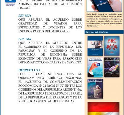 Gaceta Oficial de la República de Paraguay – Enero 2019
