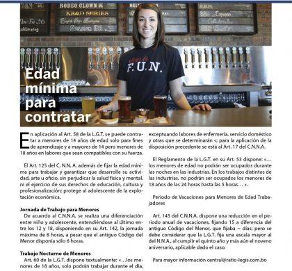 (Español) Edad mínima para contratar