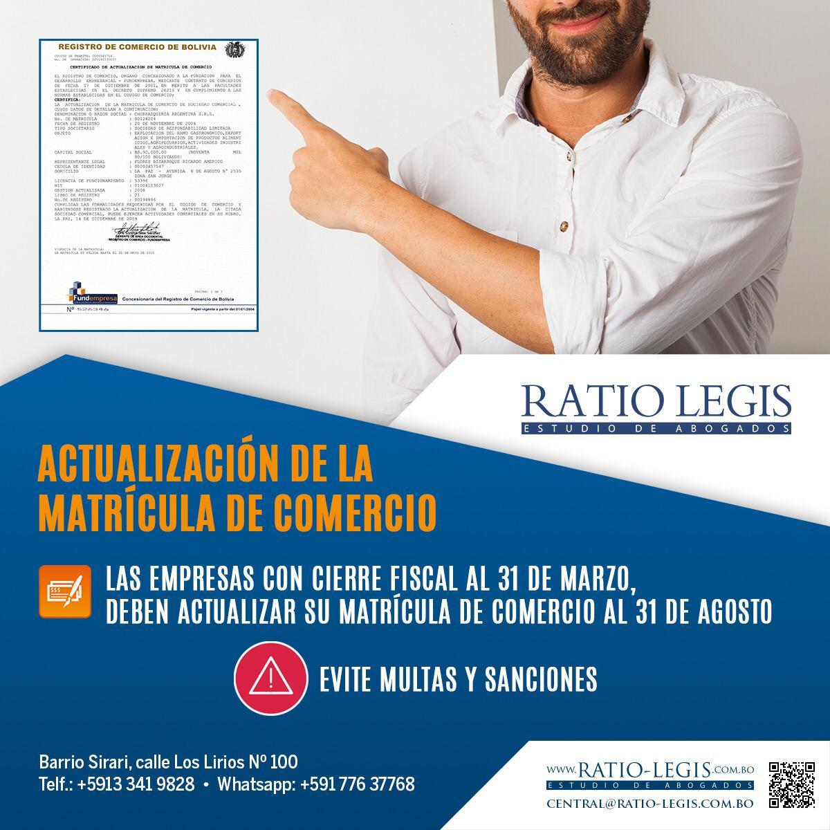 (Español) Actualización de la Matrícula de Comercio