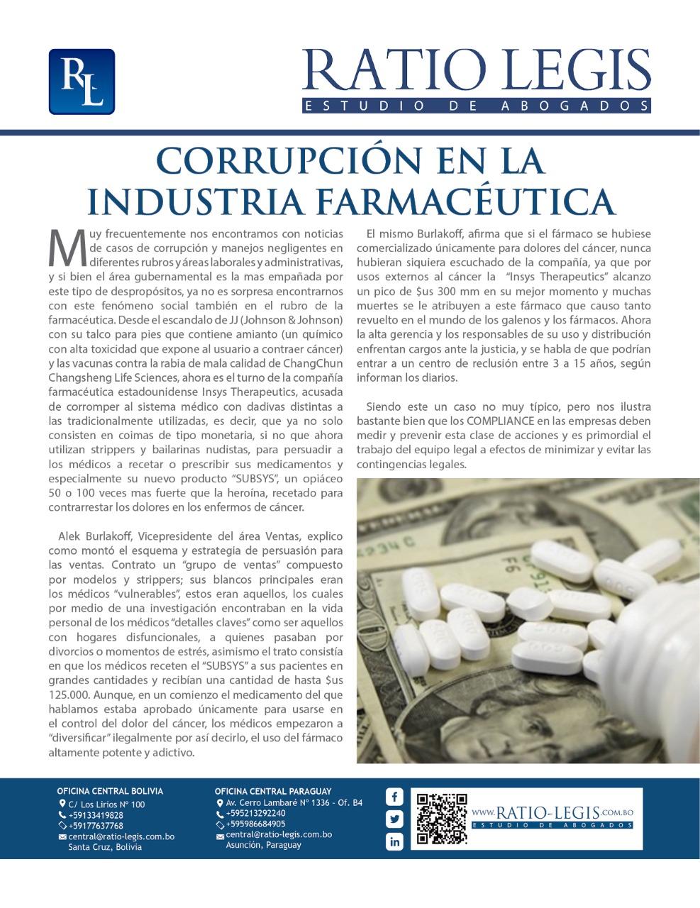 (Español) Corrupción en la Industria Farmacéutica