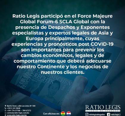 Ratio Legis participó en el Force Majeure Global Forum-6 SCLA Global