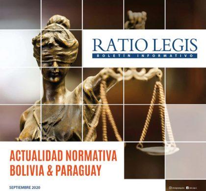 Actualidad Normativa Bolivia & Paraguay Septiembre 2020