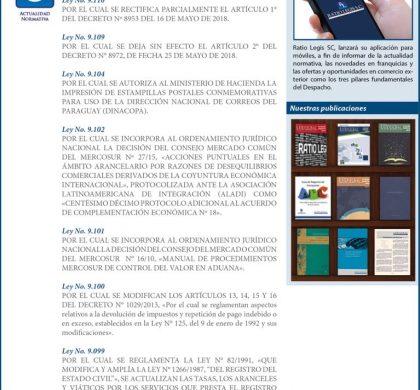 Gaceta Oficial de la República de Paraguay – Junio 2018