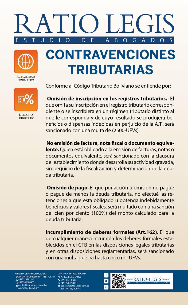 (Español) Contravenciones Tributarias