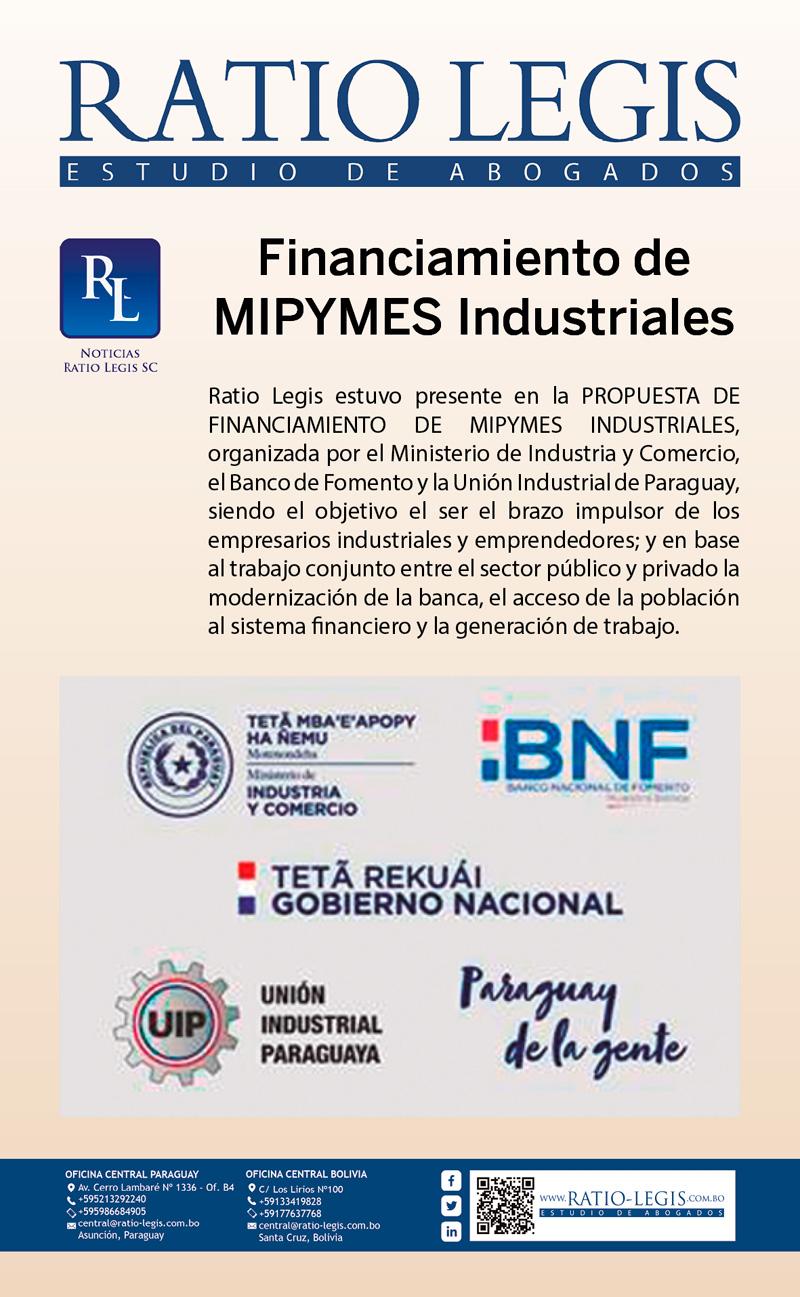 Financiamiento de MIPYMES Industriales