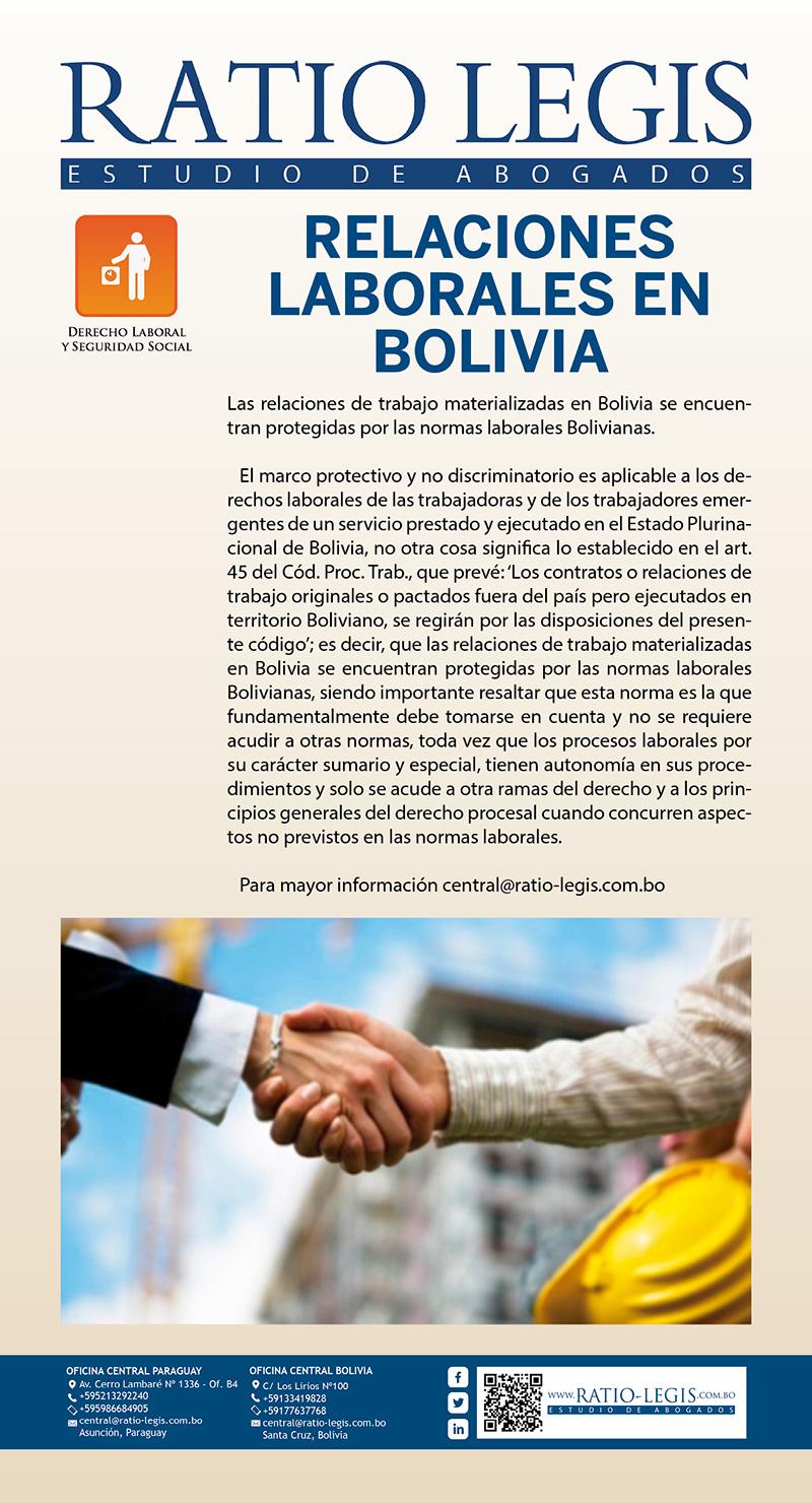 (Español) Relaciones Laborales en Bolivia