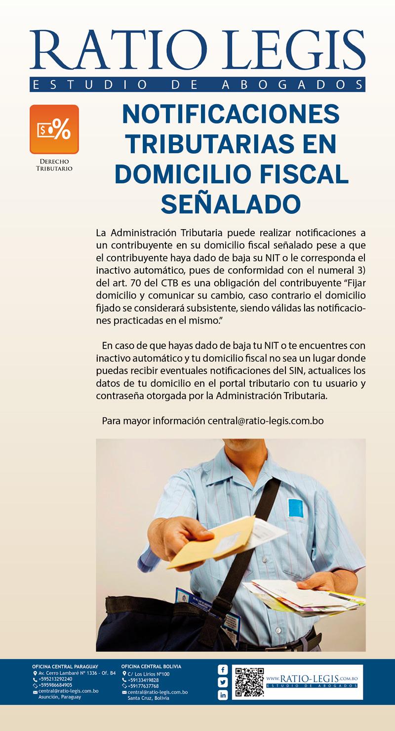 (Español) La Administración Tributaria puede realizar notificaciones en tu domicilio fiscal señalado, pese a que hayas dado de baja tu NIT o estés con inactivo automático.