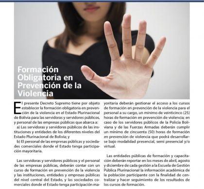 Formación Obligatoria en Prevención de la Violencia