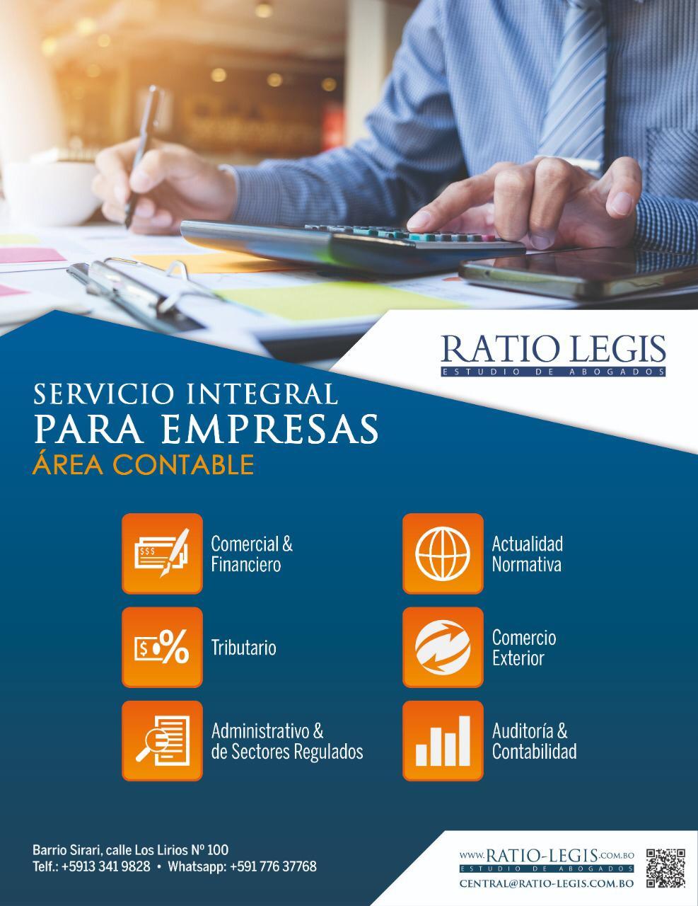 (Español) Servicio Integral para Empresas Área Contable