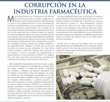 Corrupción en la Industria Farmacéutica