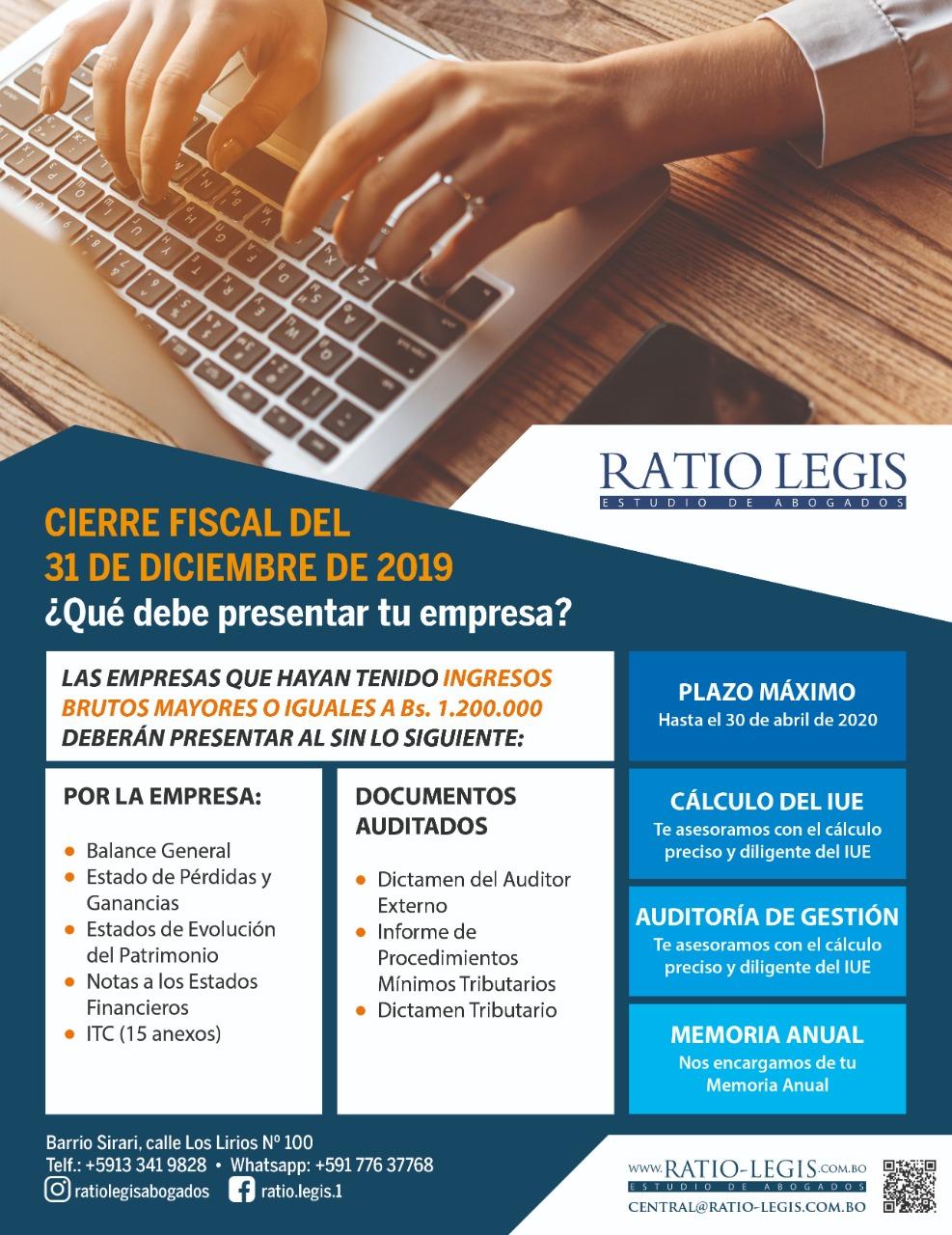 (Español) Cierre Fiscal del 31 de Diciembre de 2019